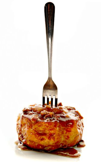 Carmel Roll with Fork