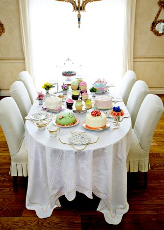 Table of different types of cakes