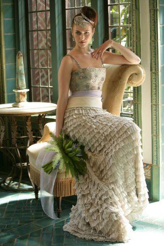 Bride in vintage gown