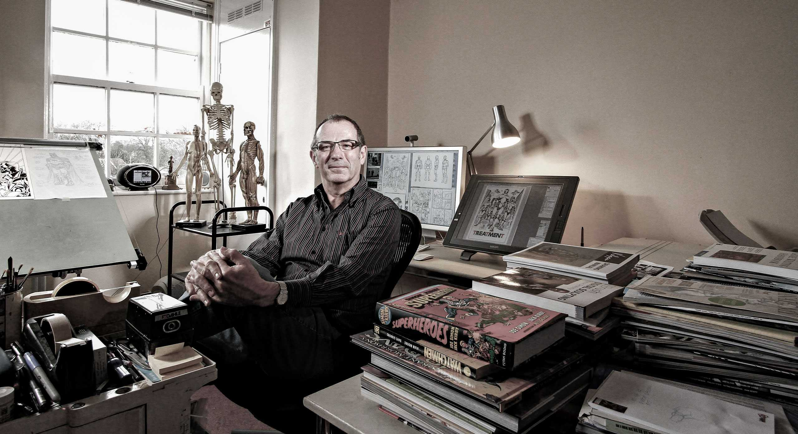 """Comic Book Artist/Illustrator Dave Gibbons Photographed for """"The Artist Within: Book 2"""""""