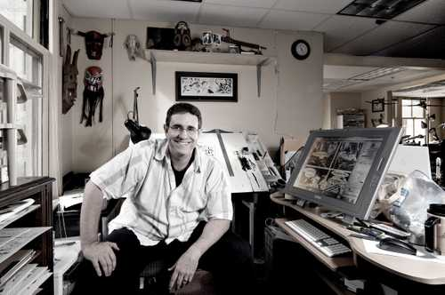 """Portrait Of Comic Book Artist Steve Leiber, photographed for """"The Artist Within: Book 2"""
