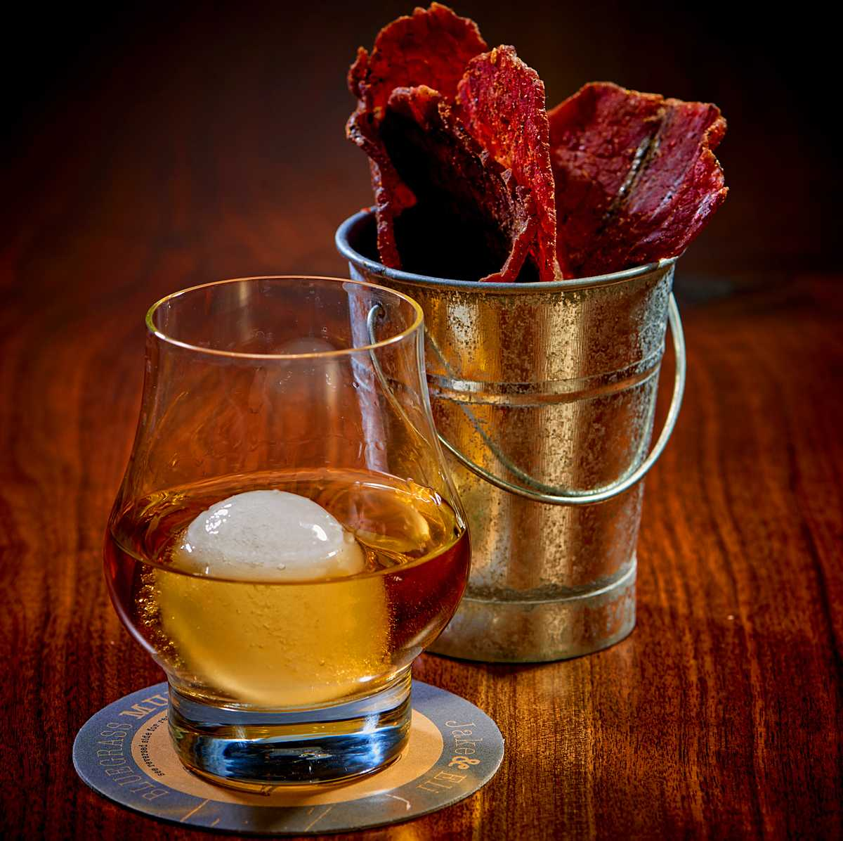 Bourbon and Beef hand made Beef Jerky at Jake and Eli's at the Westin Hotel and Spa