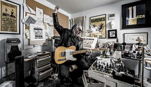 """Portrait of Cartoonist Bobby London, Photographed in his home studio for """"The Artist Within: Book 2"""""""