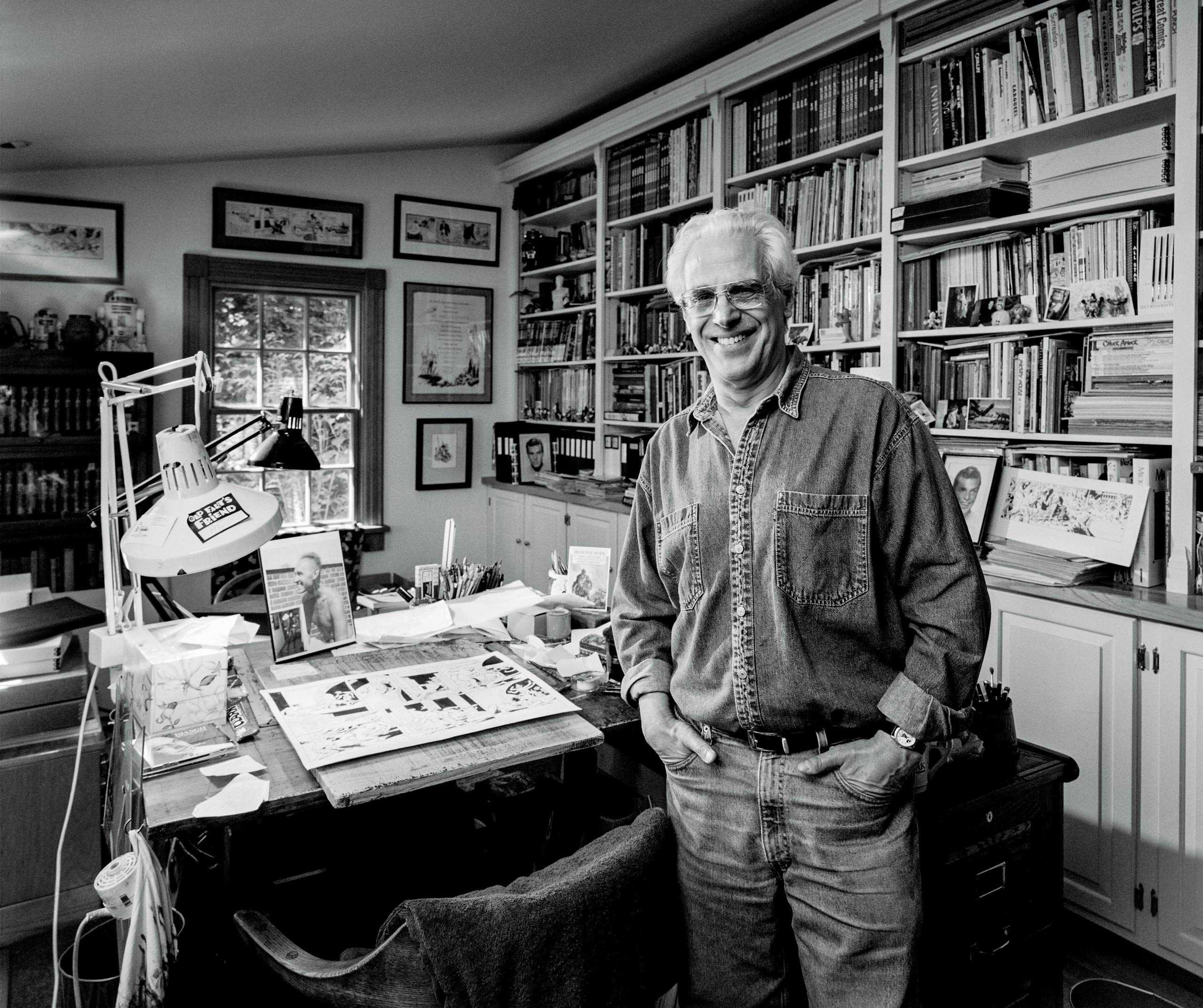 """Amazing Comic Book Artist/Illustrator Al Williamson photographed in his home studio for the """"Artist Within"""" portrait Project"""