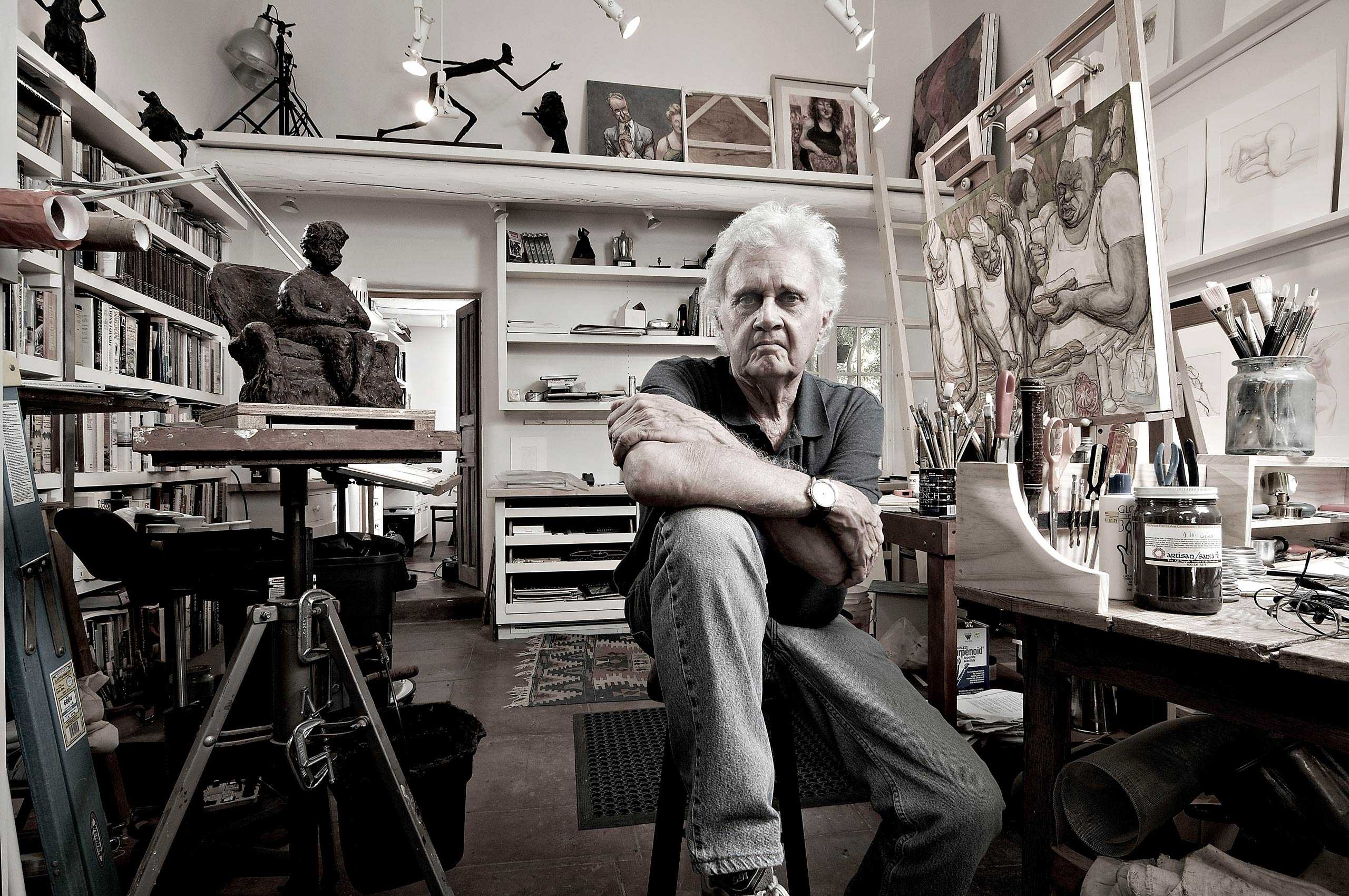 """Portrait of Editorial Cartoonist Patrick Oliphant for """"The Artist Within: Book 2"""""""