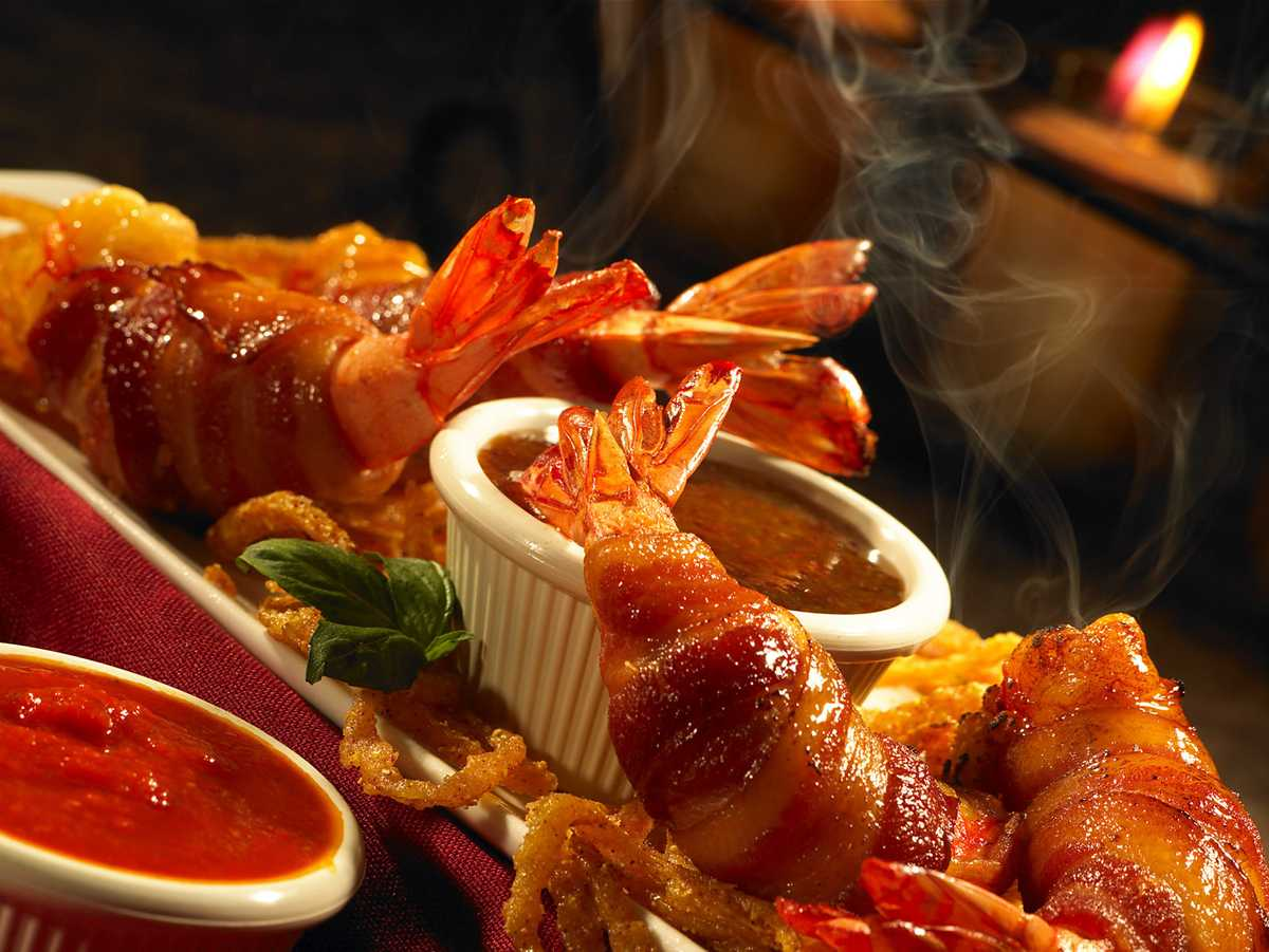 """Bacon Wrapped Shrimp"" for Station Casinos, Las Vegas"
