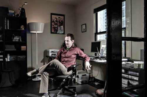 In Studio Portrait of Artist/ Illustrator Ben Templesmith