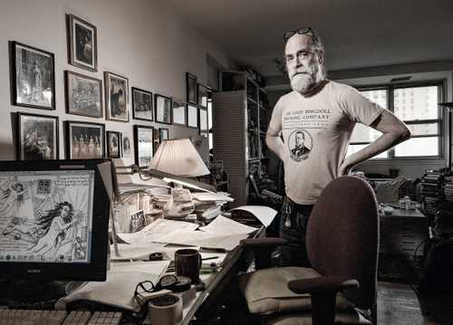 """Cartoonist Kim Deitch, Photographed for """"The Artist Within: book 2"""""""
