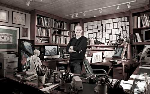 "Animator/ Illustrator Glen Keane photographed in his studio for ""The Artist Within: book 2"""