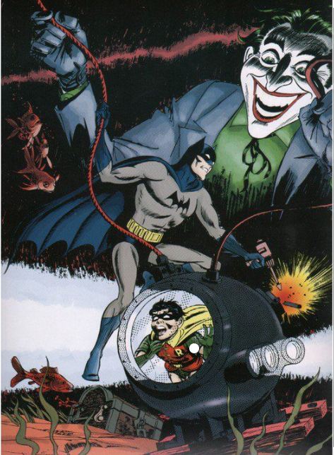 Batman and Robin and the Joker by Artist Jerry Robinson