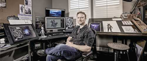 """Director, Animator, Illustrator and Virtual Reality Artist Jake Rowell photographed for """"The Artist Within: Book 2"""""""