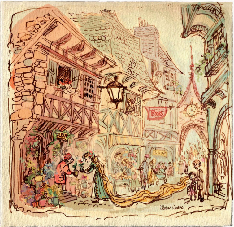 Concept art for Tangled by Claire Keane