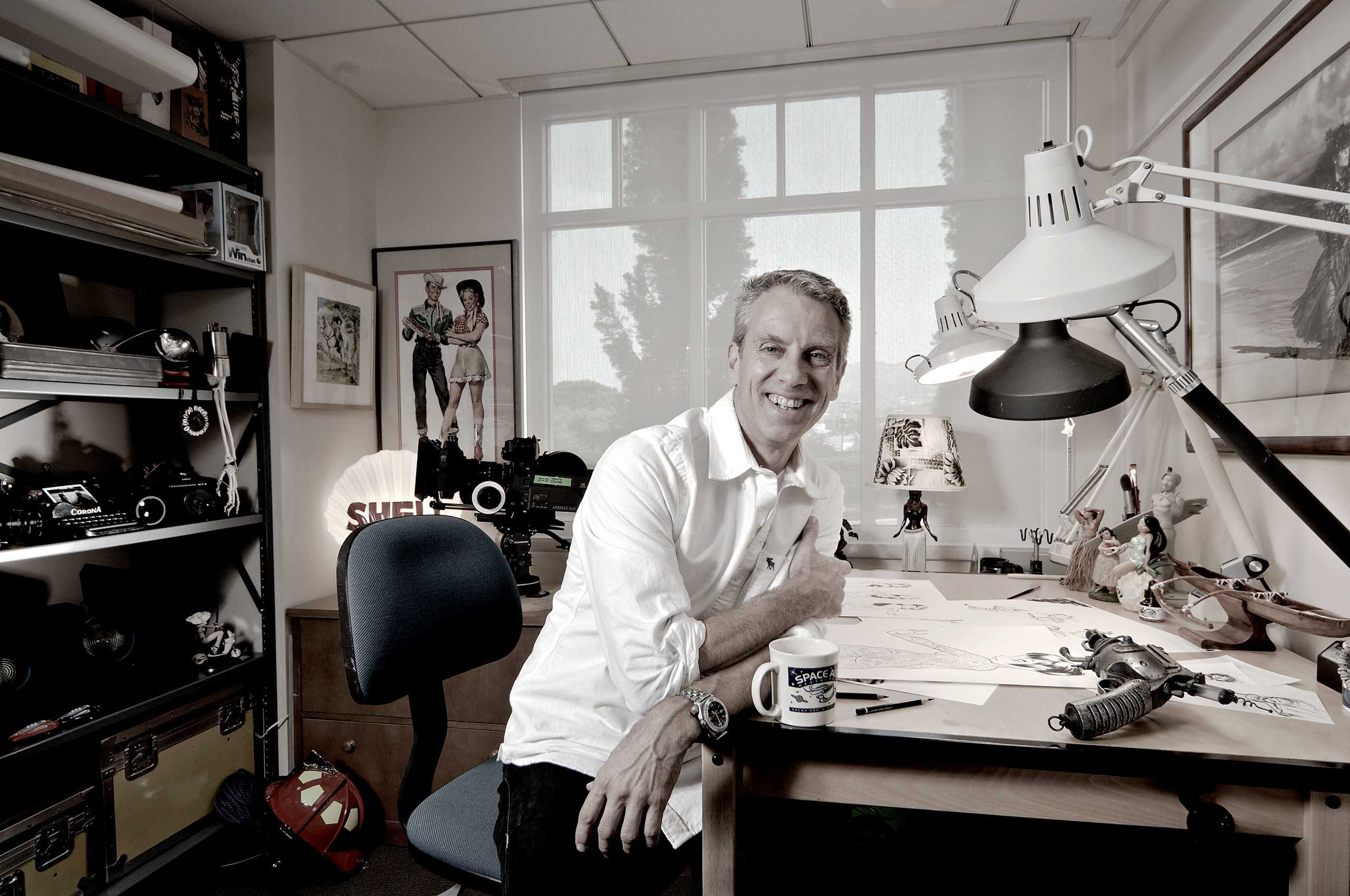 Illustrator/Animation Director Chris Sanders, Photographed in his studio