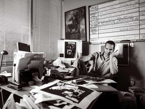 Portrait of  Comic Book Creator Todd McFarlane, Taken in his office  at McFarlane Toys