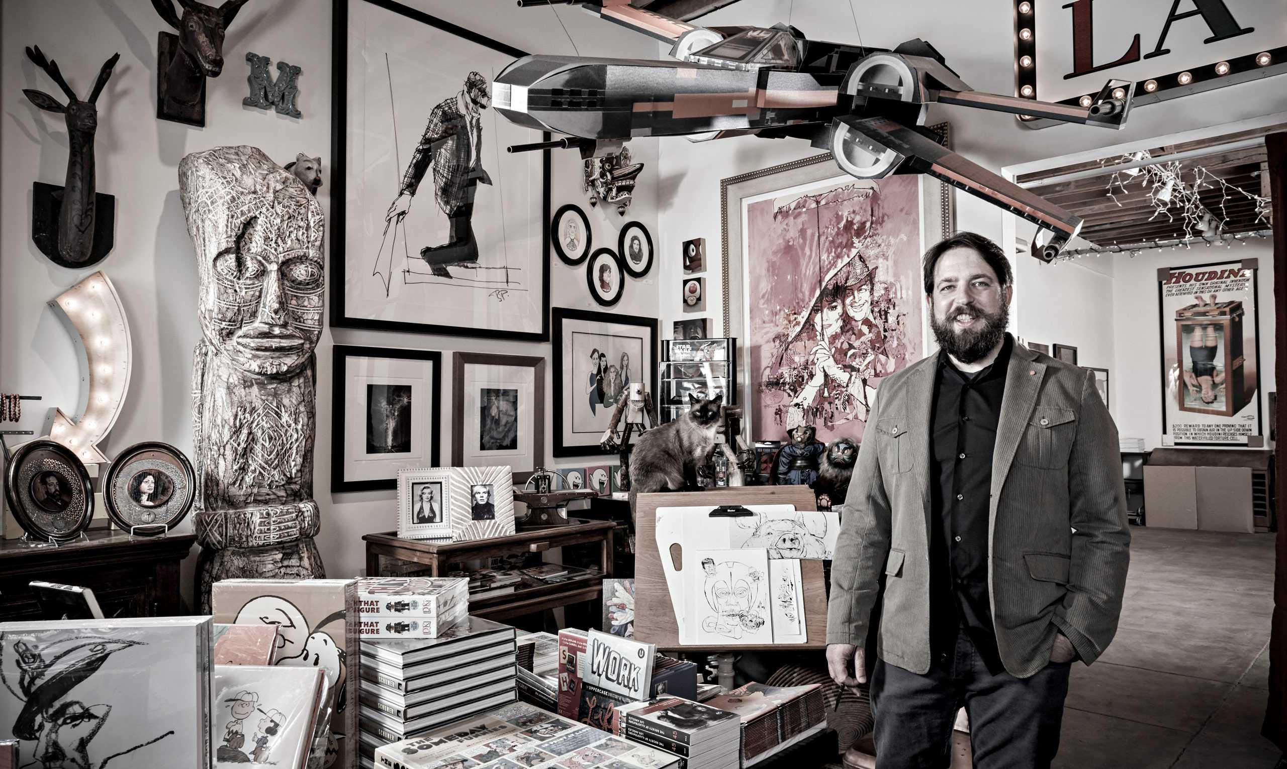 "Illustrator Scott Gandell photographed exclusively fo ""The Artist Within: Book 2"""
