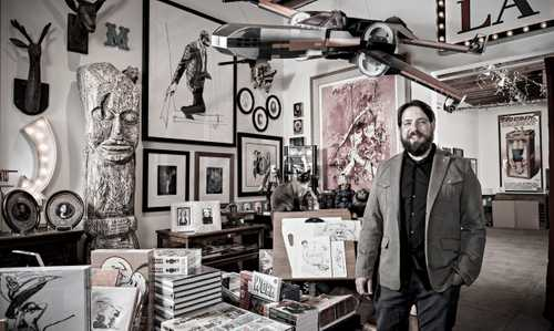 """Illustrator Scott Gandell photographed exclusively fo """"The Artist Within: Book 2"""""""