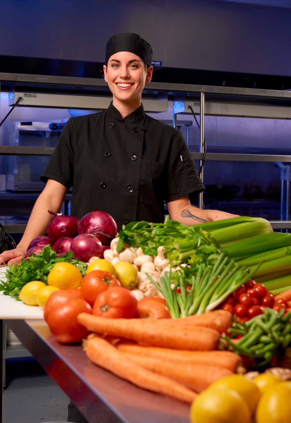 """Portrait of JoLeigh Tracy, Executive Chef at """"Blackout Dining"""" in Las Vegas"""