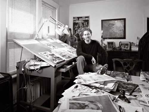 Comic Book Artist/ Cartoonist Hilary Barta photographed for