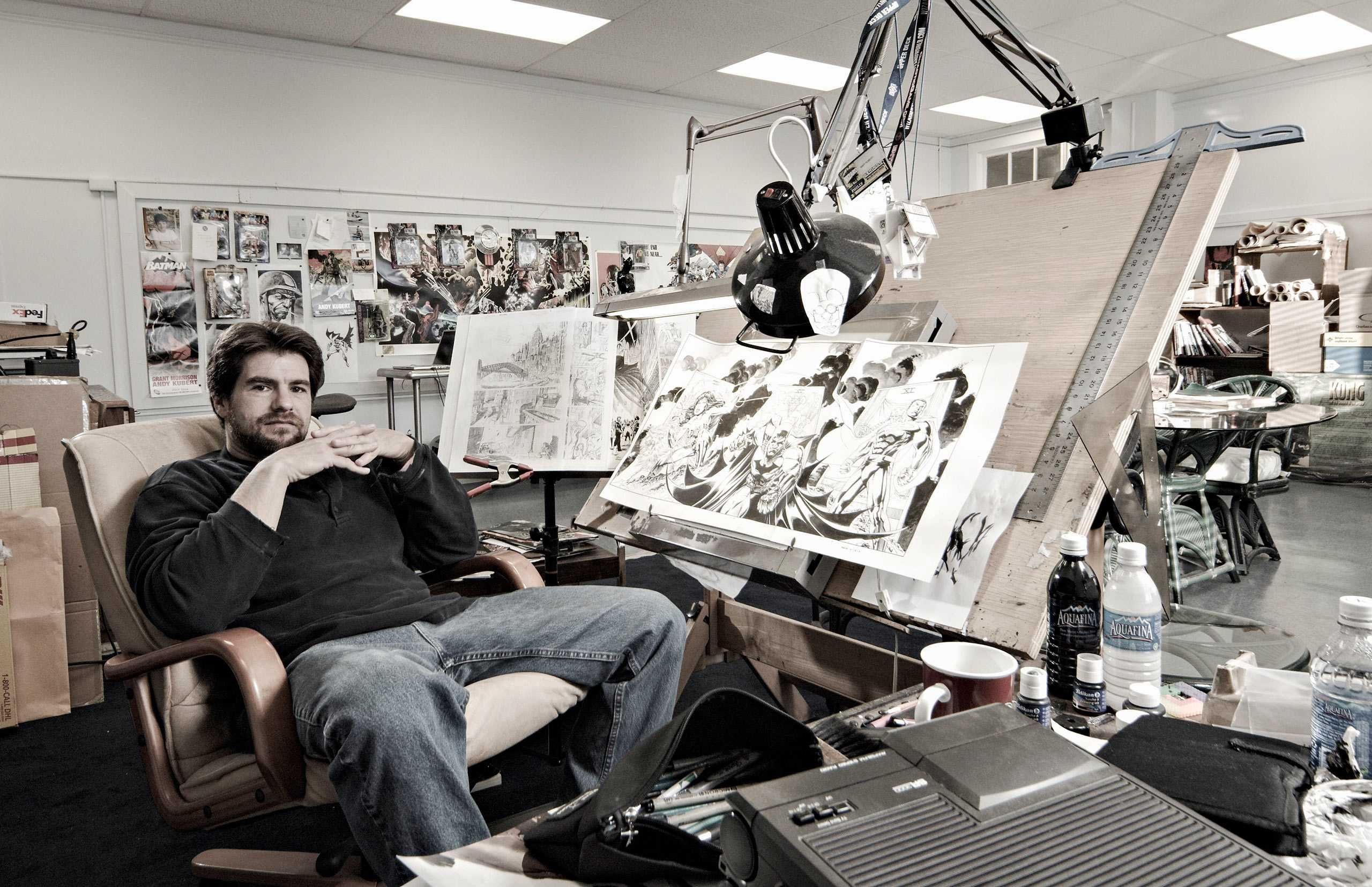 "Comic Book Artist/ IllustratorAndy Kubert, photographed for ""The Artist Within: Book 2"""