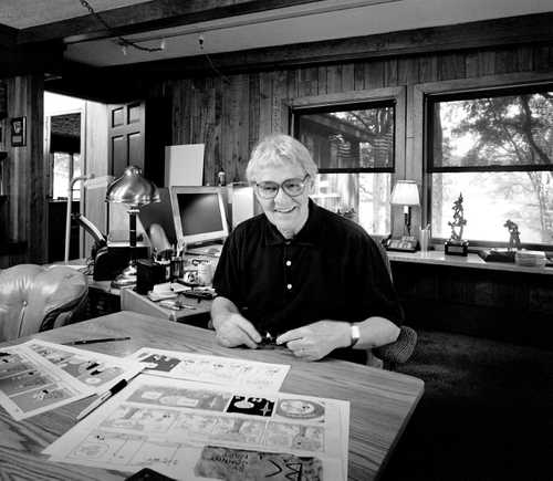 """Cartoonist Johnny Hart photographed for """"The Artist Within"""" by Greg Preston"""