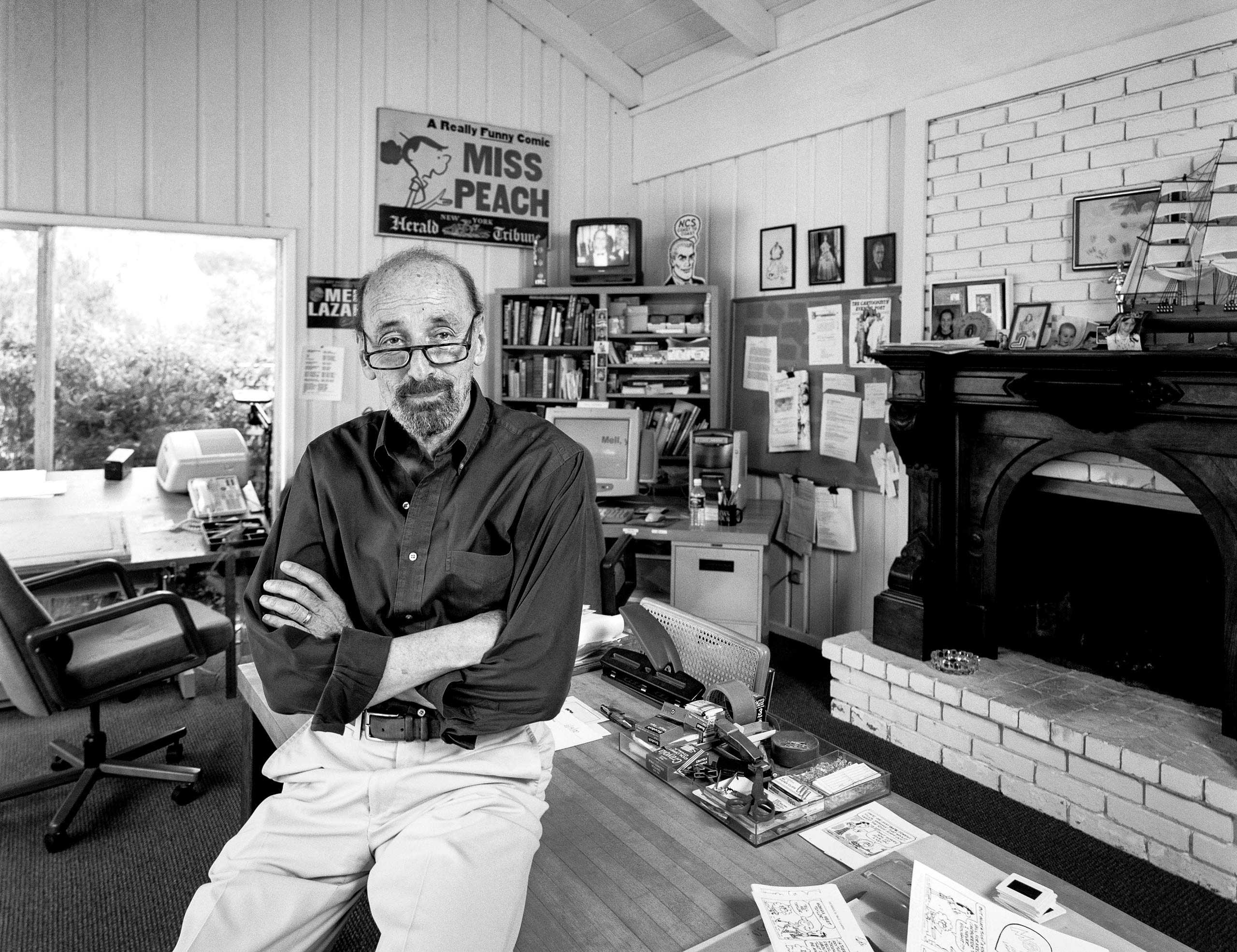 """Cartoonist And Author Mell Lazarus photographed for """"The Artist Within"""""""