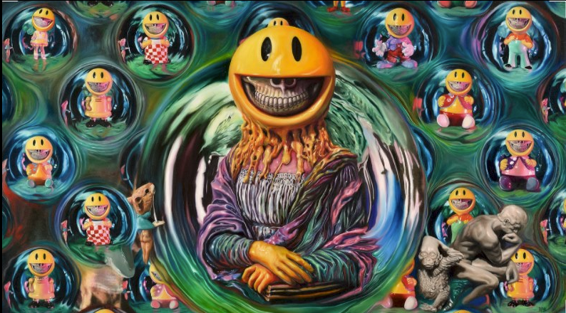 """""""Melting Mona in Grin Bubbles"""" by Ron English"""