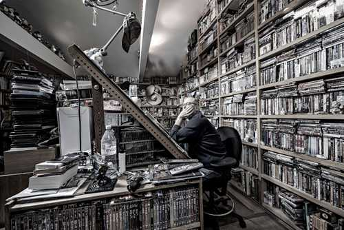 """Comic Book Artist/ Illustrator Geof Darrow in his Chicago studio, photographed for """"The Artist Within: Book 2"""""""