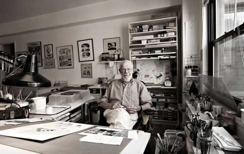 Cartoonist/ Illustrator Al Jaffee photographed for The Artist Within: Book 2