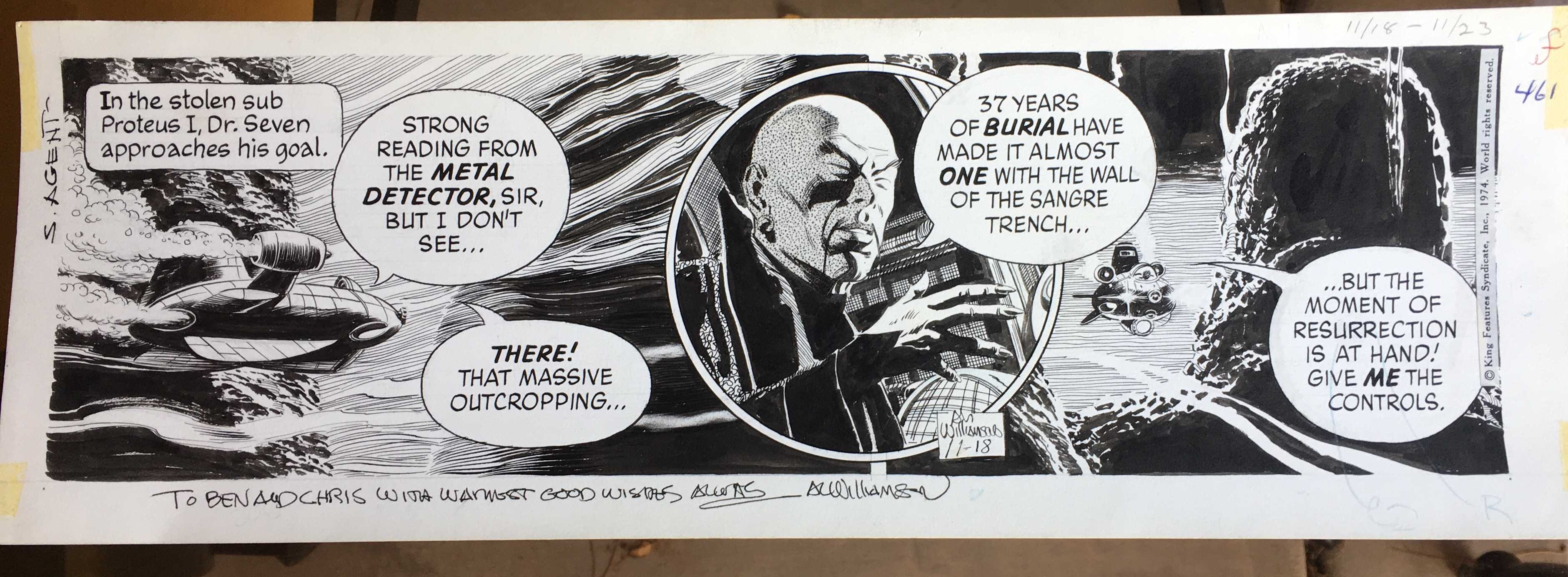 Secret Agent Corrigan original art by Al Williamson