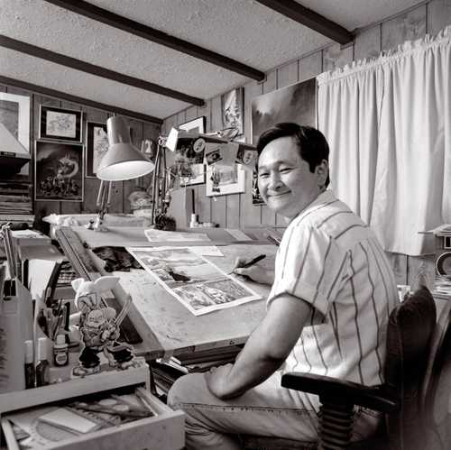 """Comic Book Artist/ Illustrator Stan Sakai photographed for """"The Artist Within"""" Book 1"""