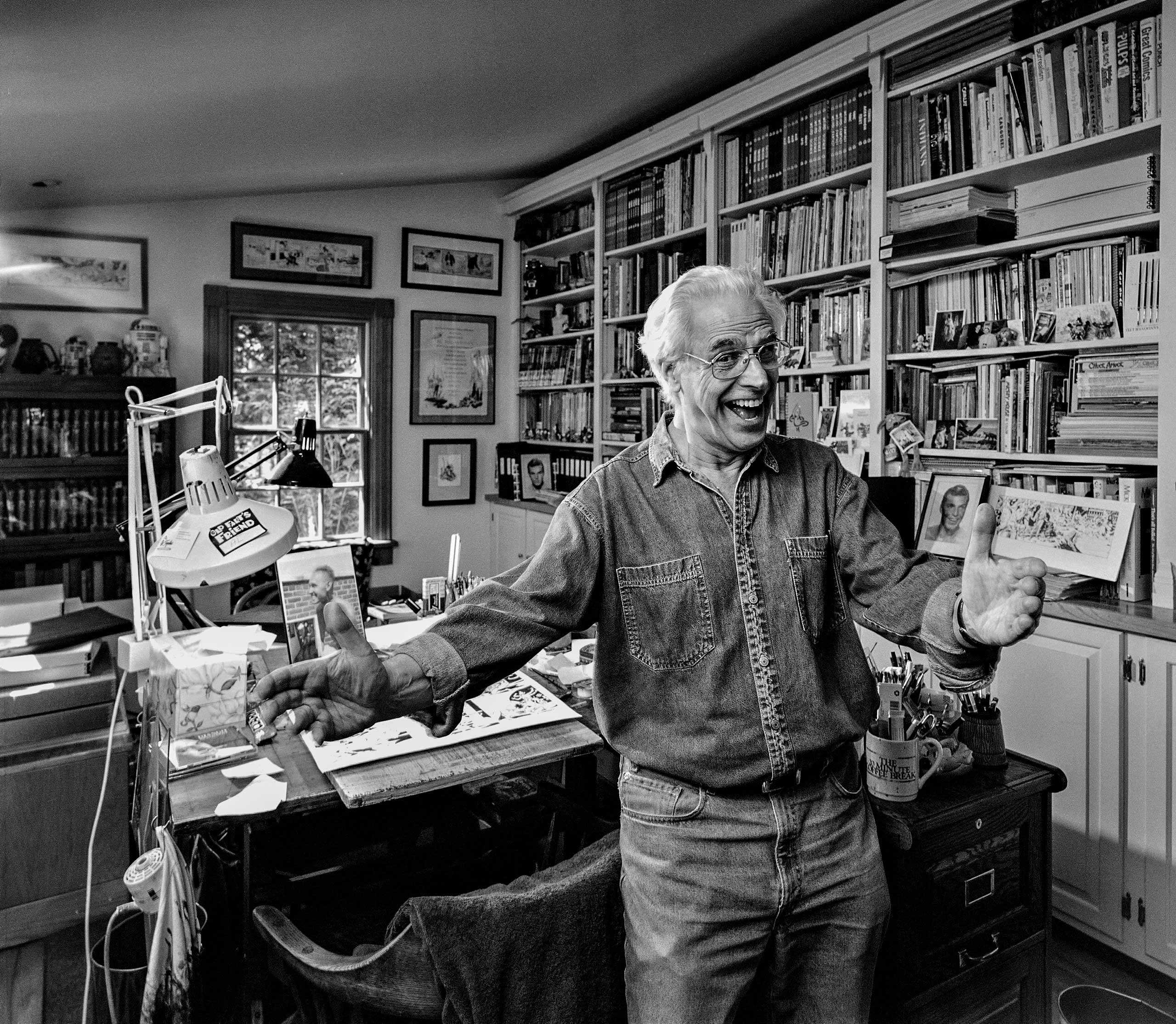 "Amazing Comic Book Artist/Illustrator Al Williamson photographed in his home studio for the ""Artist Within"" portrait Project"
