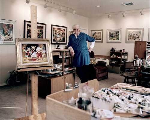 "Cartoonist Carl Barks photographed in his studio for ""The Artist Within "" Book Project"