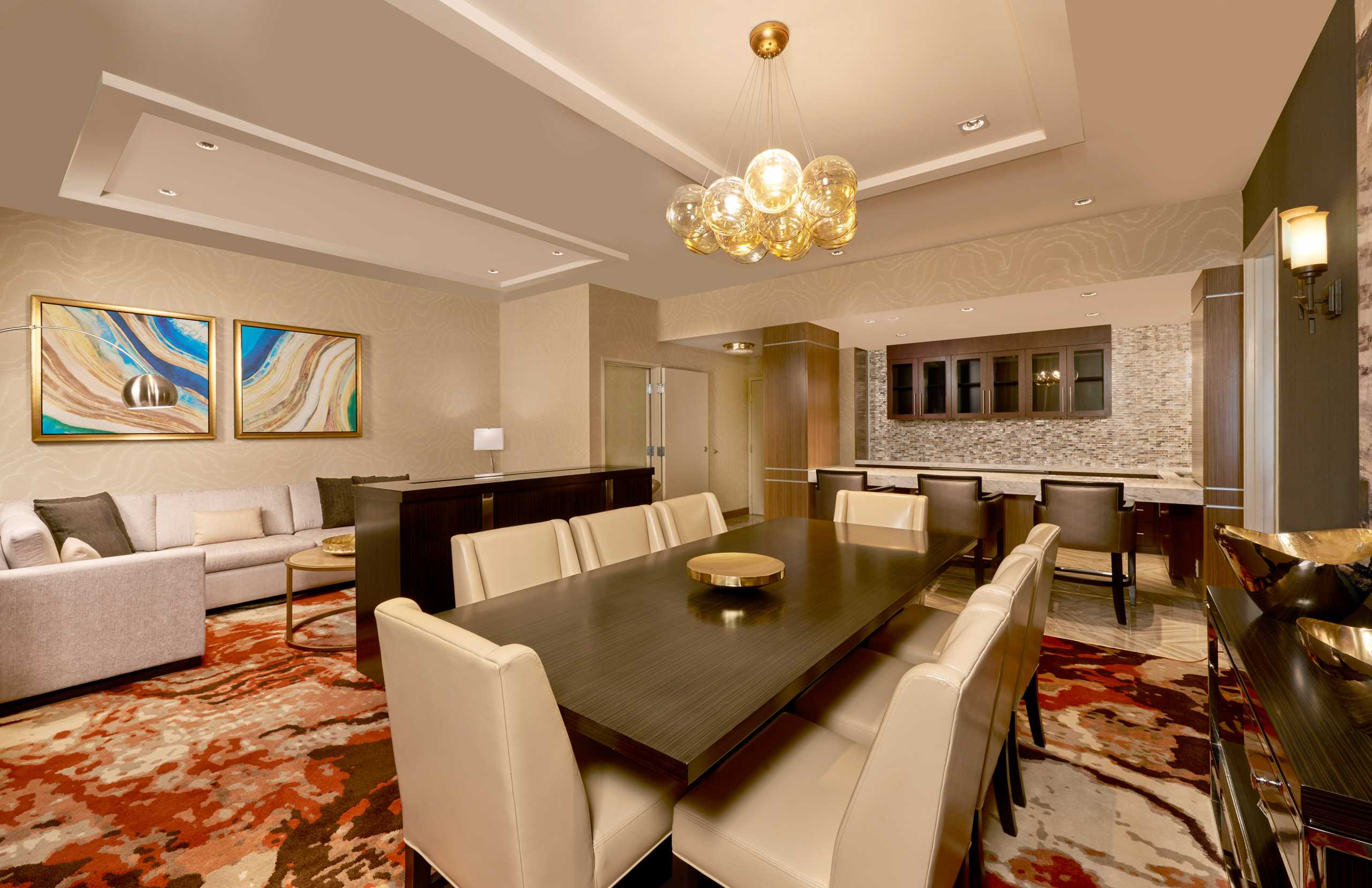 The Newly Designed Presidential Suite Living Room at The Westin Hotel and Spa in Las Vegas
