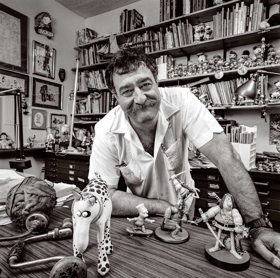 Portrait Of Comic Book Artist, Cartoonist and Illustrator Sergio Aragones