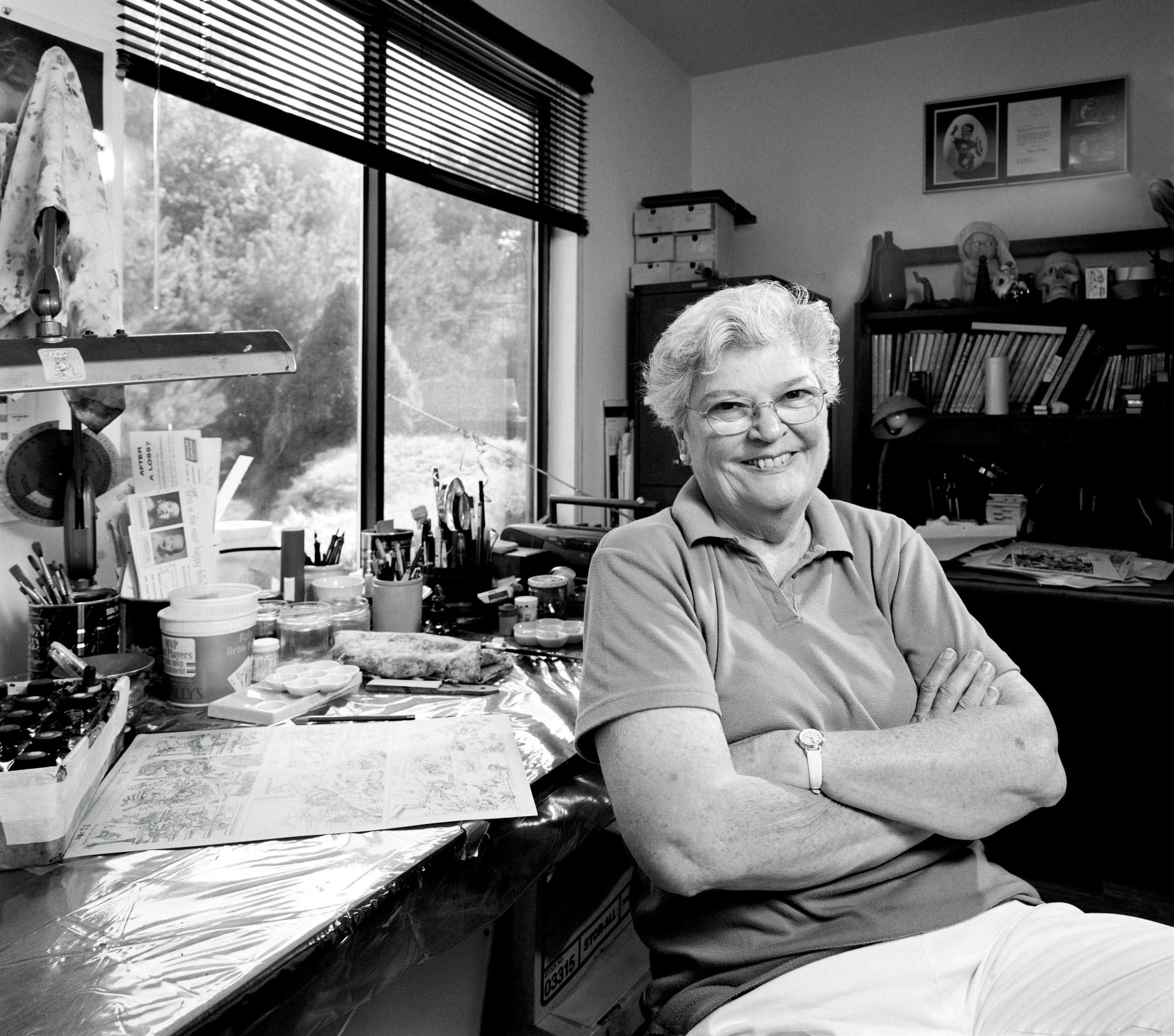 """Comic Book Artist Marie Severin Photographed for """"The Artist Within"""""""