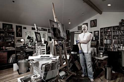 """Fine Artist William Wray photographed for """"The Artist Within"""""""