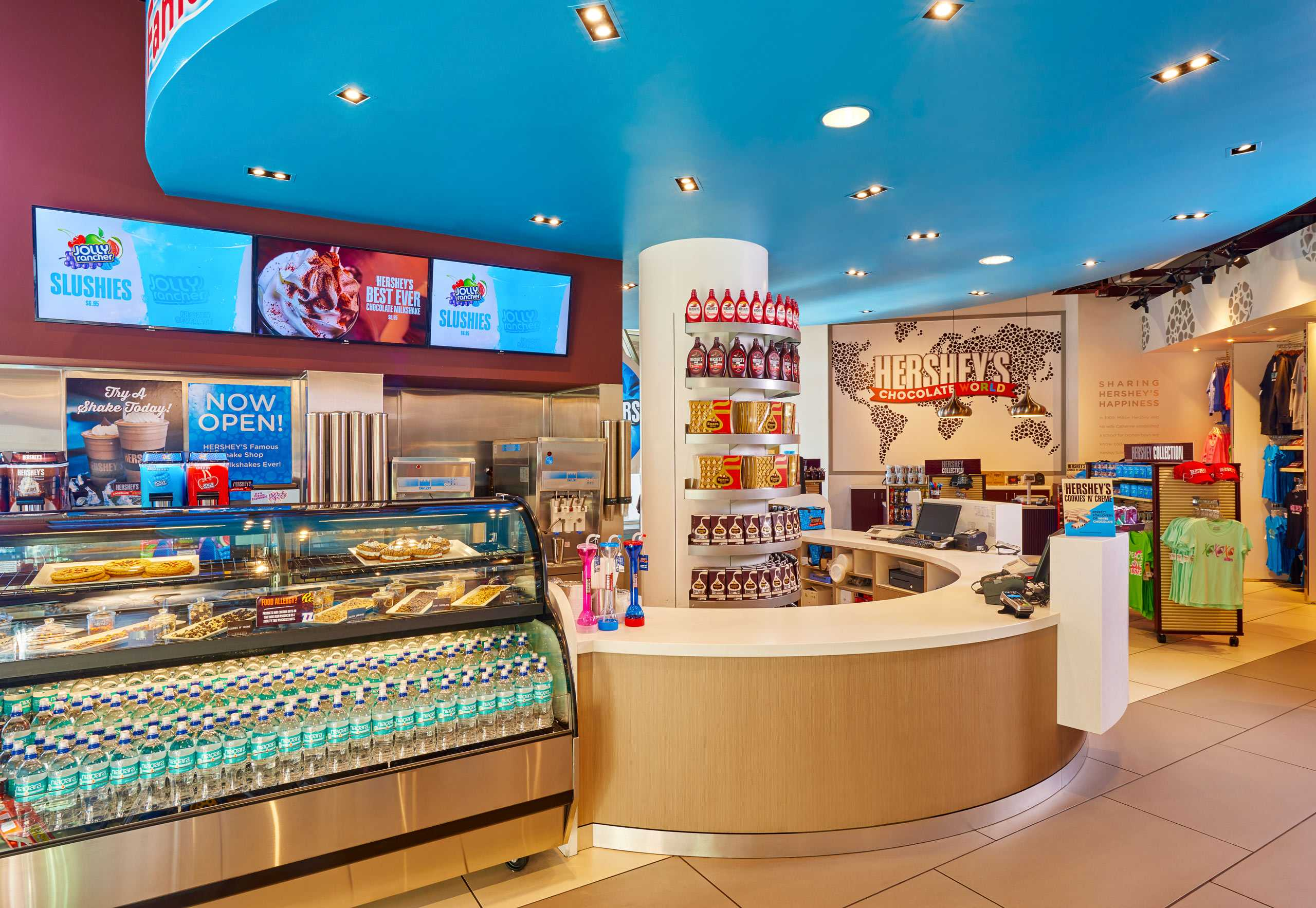 Enjoy a Hershey's Chocolate Shake or a Malt at the Milk Shake Shop at Hershey's World Las Vegas!