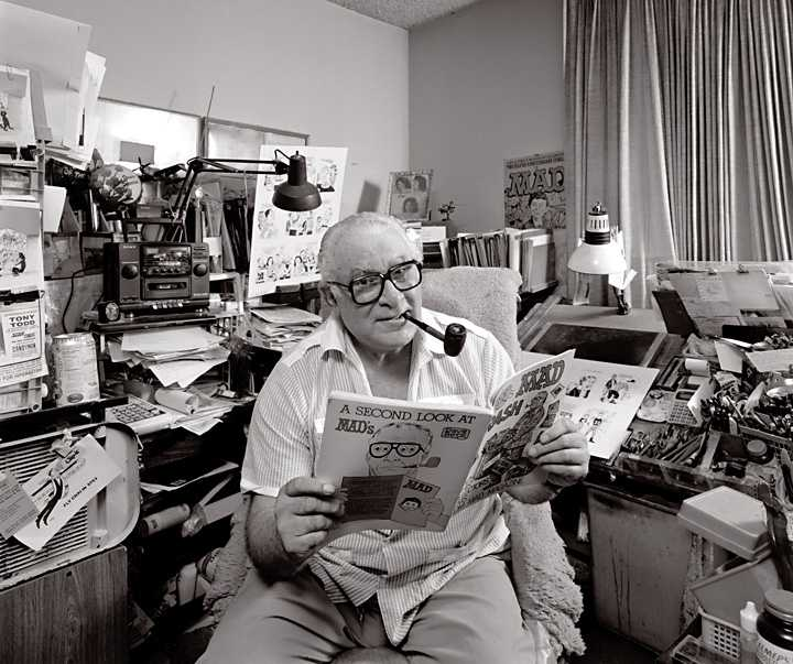 """Cartoonist Dave Berg photographed for """"The Artist Within"""" portrait project"""