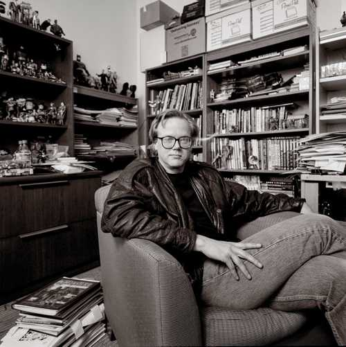 """Illustrator/Animator Bruce Timm photographed for """"The Artist Within"""""""