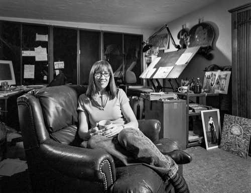 Cartoonist Carol Lay photographed for The Artist Within portrait Project