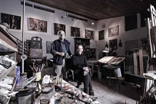 "Artists Harry Carmean and Miriam Slater photographed for ""The Artist Within: Book 2"""