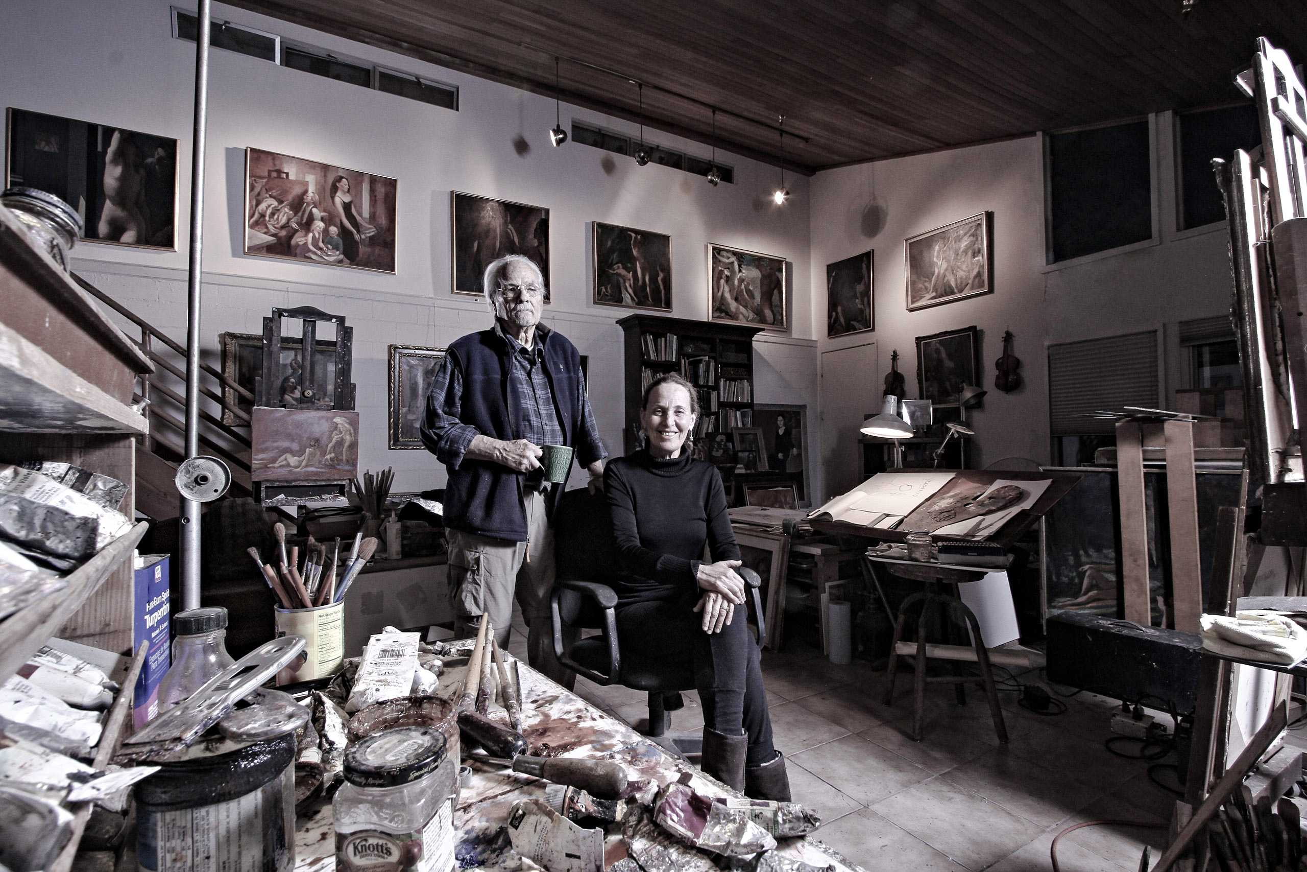 """Artists Harry Carmean and Miriam Slater photographed for """"The Artist Within: Book 2"""""""