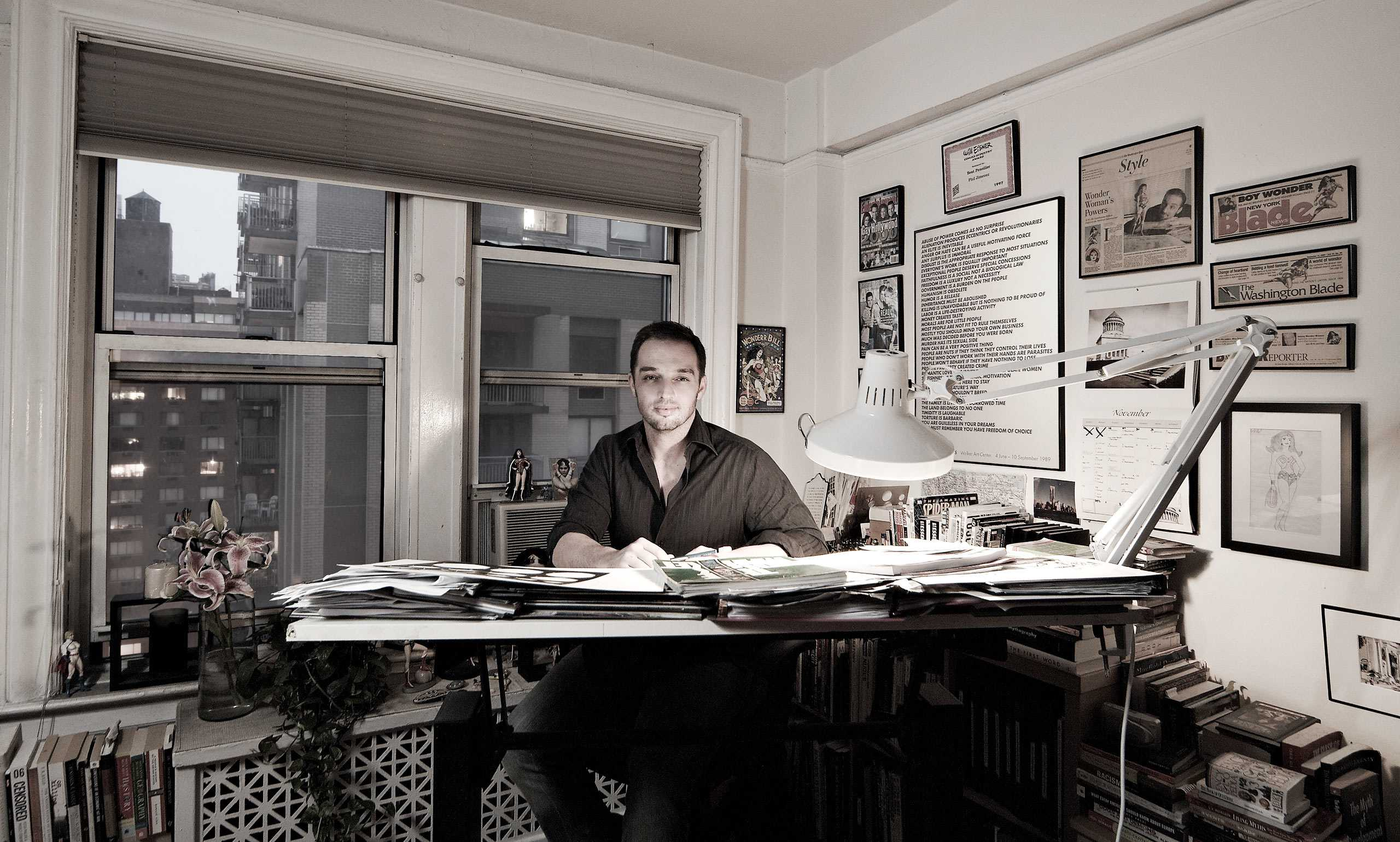 "Comic Book Artist Phil Jimenez Photographed for ""The Artist Within: Book 2"""