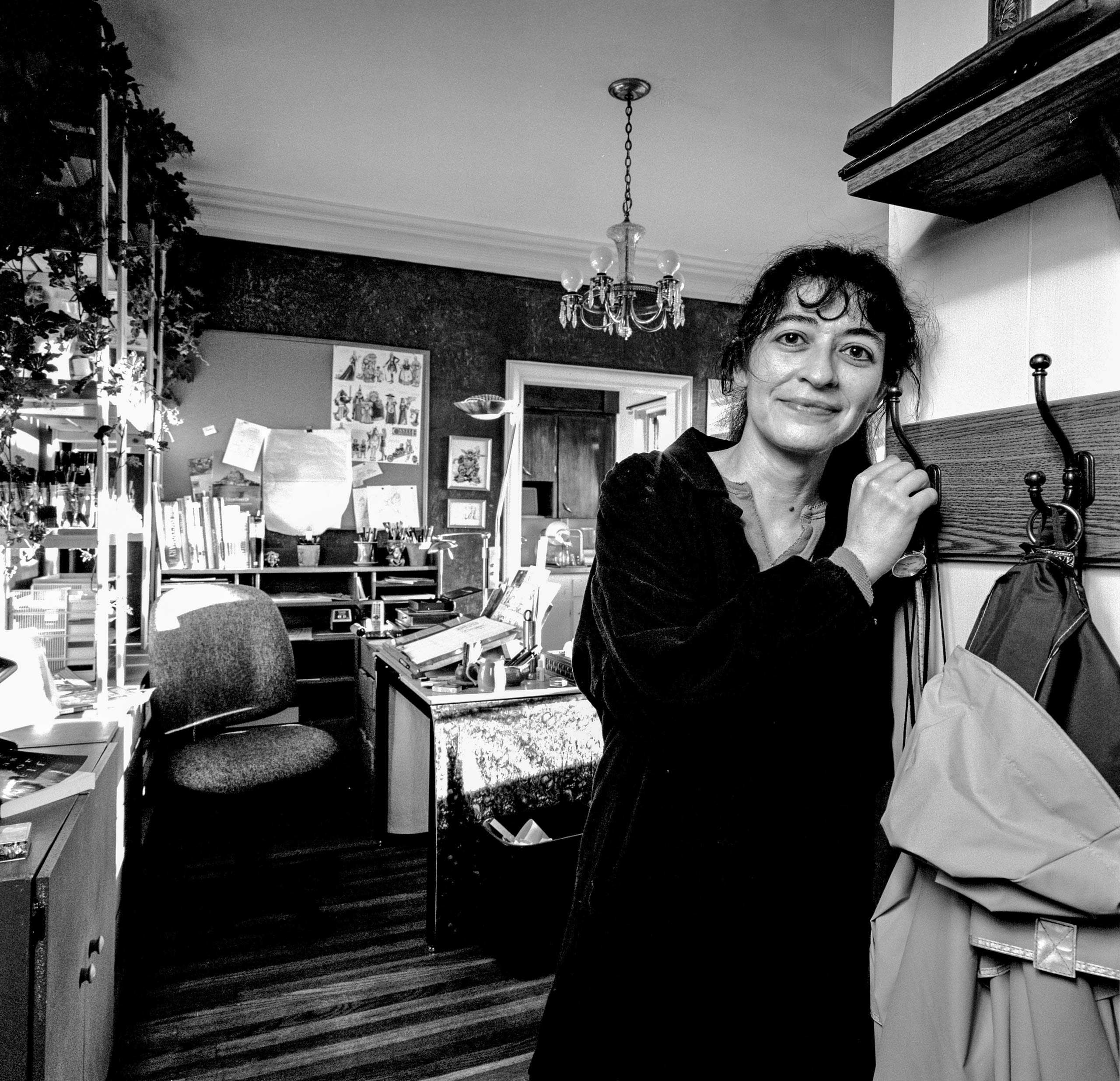 """Artist Linda Medley photographed in her studio for """"The Artist Within: Book 2"""""""