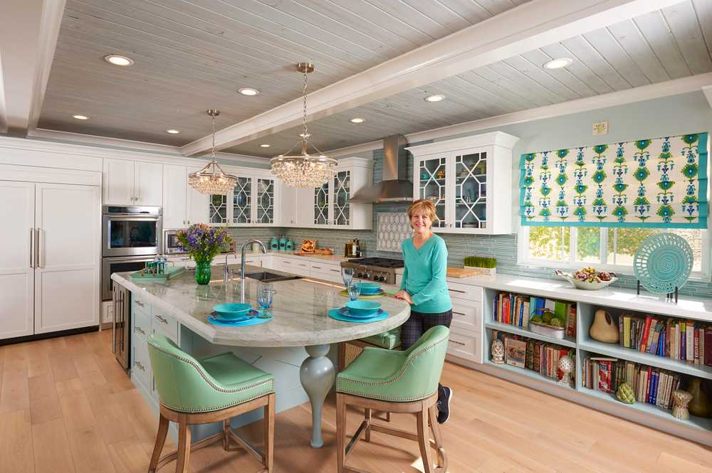 Interior Designer, Marlene Oliphant, In her Designer Kitchen, in San Clemente, Ca