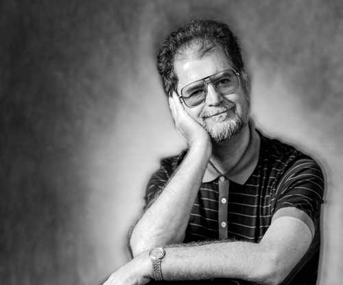 Portrait of  Science Fiction and Fantasy Author Larry Niven by Greg Preston