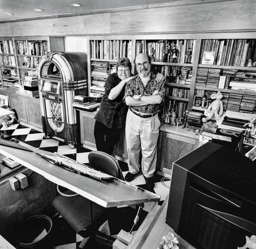 "Animators Eric and Susan Goldberg, photographed in their home studio for ""The Artist Within"" Book 1"