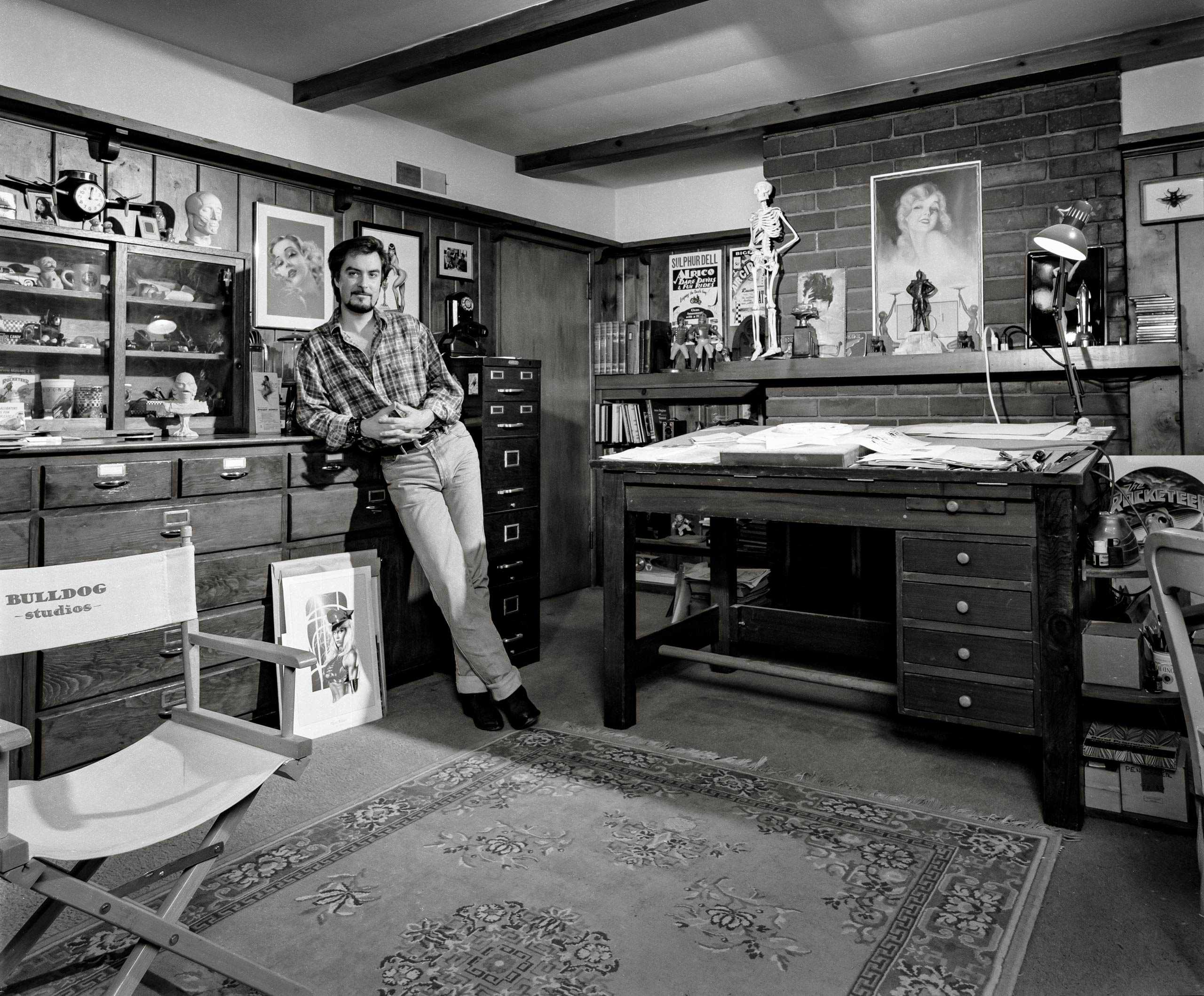 Comic Book Artist/ Illustrator Dave Stevens photographed in his studio for The Artist Within portrait Project