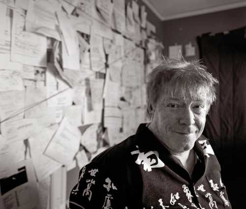 "Cartoonist John Callahan photographed in his studio for the ""Artist Within""."
