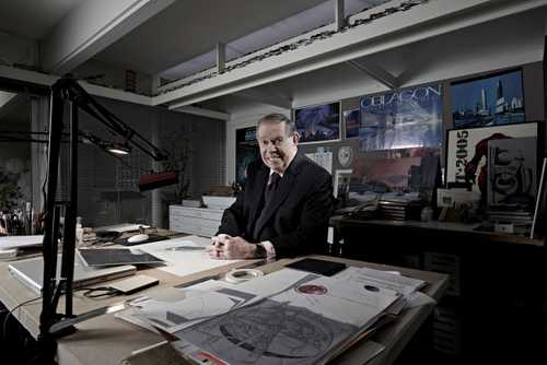 """Futurist Syd Mead photographed for """"The Artist Within: book 2"""""""